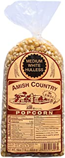 product image for Amish Country Popcorn | 1 lb Bag | Medium White Popcorn Kernels | Old Fashioned with Recipe Guide (Medium White - 1 lb Bag)