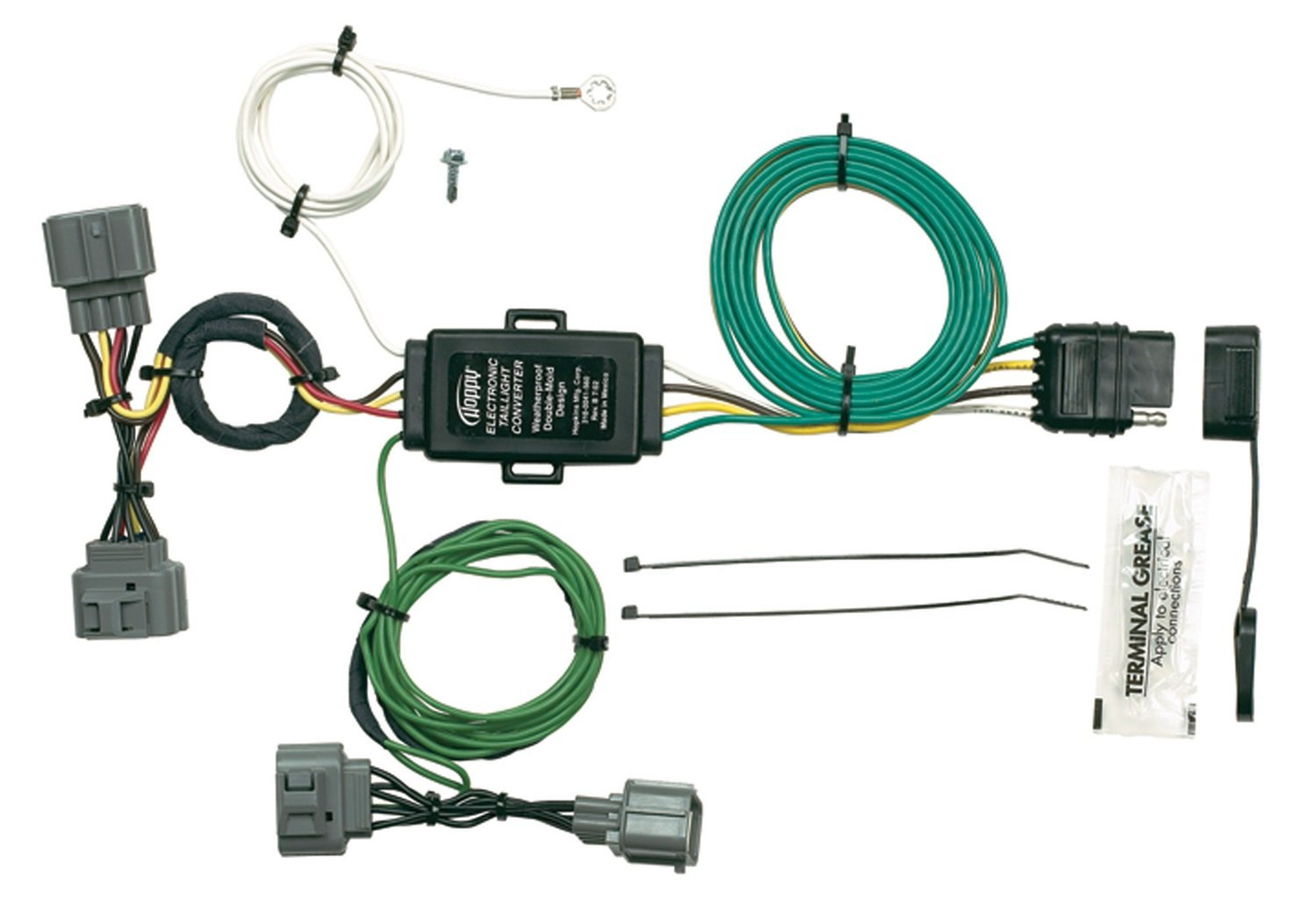 61uhFx0L6RL._SL1500_ amazon com hopkins 43125 plug in simple vehicle wiring kit trailer wiring harness honda ridgeline at crackthecode.co