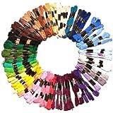 100x8m fili per ricamo in matasse di colori assortiti firmato Kurtzy TM