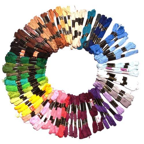 73 opinioni per 100x8m fili per ricamo in matasse di colori assortiti firmato Kurtzy TM