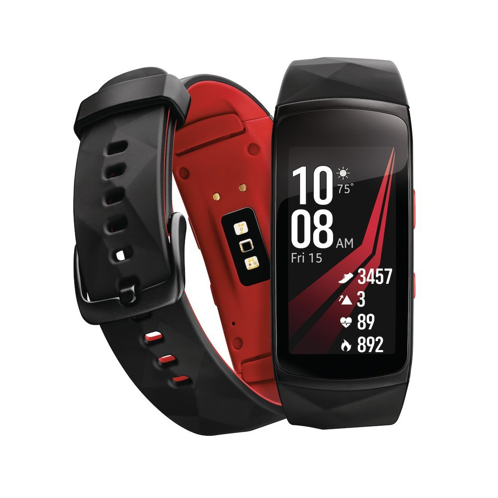Amazon.com: Samsung Gear Fit2 Pro Smart Fitness Band (Small), Diamond Red, SM-R365NZRNXAR – US Version with Warranty (Renewed): Cell Phones & Accessories