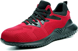 BAOLESEM Steel Toe Safety Shoes for Men Women Indestructible Work Shoes Puncture Proof Industrial & Construction Sneaker