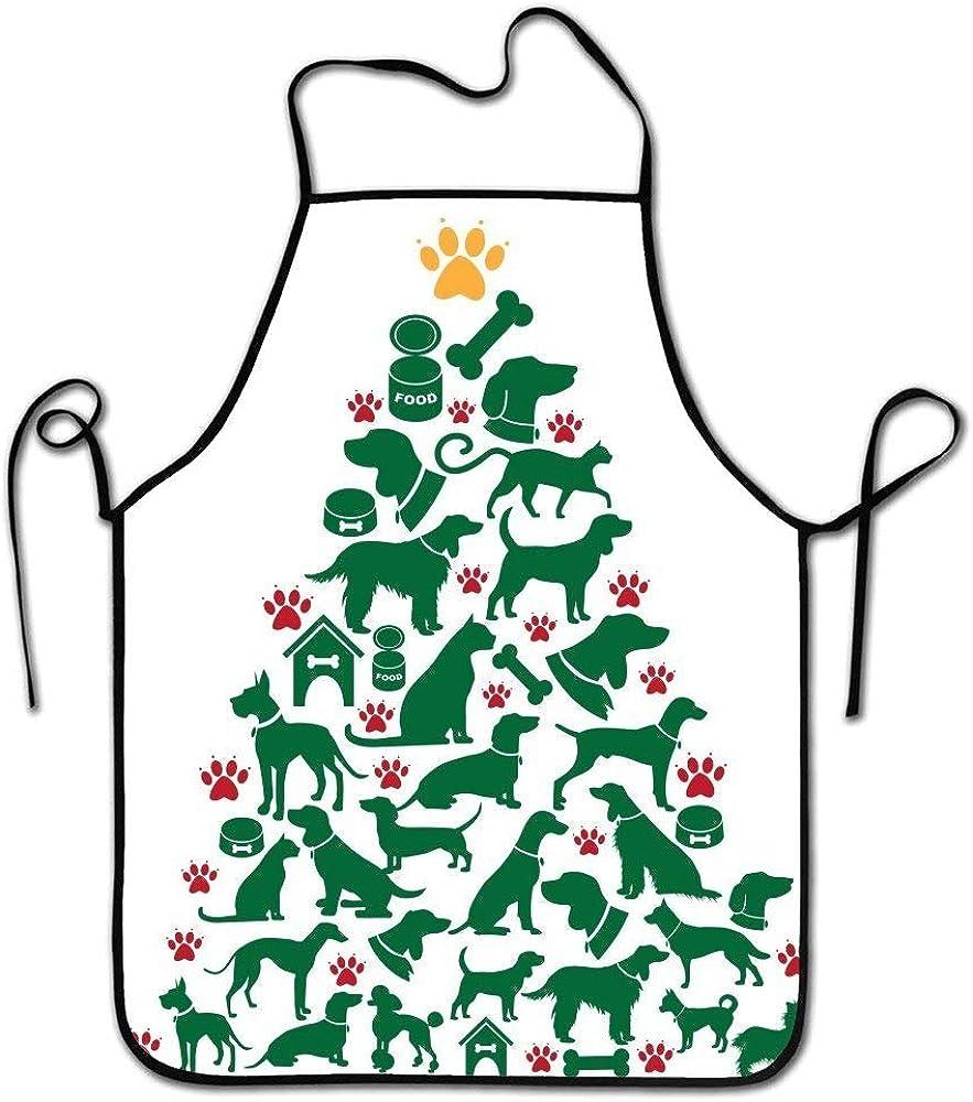 Edmundy Design Pet Food Chain Print Auable rap Adult Kitchen Aprons Fashion Protective Apron for Cooking,Baking,BBQ