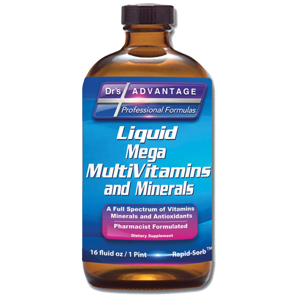 Drs Advantage – Liquid Mega MultiVitamins Minerals 16oz. Health and Beauty