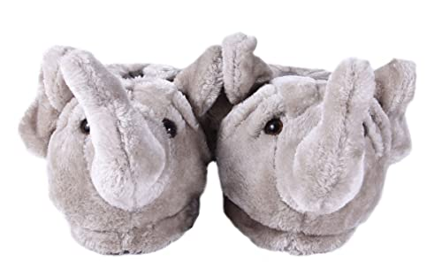 PREMIUM FULL FOOT Happy Feet Mens and Womens ANIMAL SLIPPERS