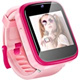 Yehtta Kids Smart Watch Toys for 3-8 Year Old Girls Toddler Watch HD Dual Camera Watch for Kids All in one Pink Easter Birthd