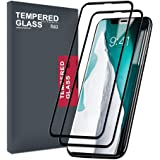 Apple iPhone XR Screen Protector Tempered Glass, Meidom 2-Pack 5D Anti-Scratch Anti-Fingerprint Screen Protector for iPhone XR - Black