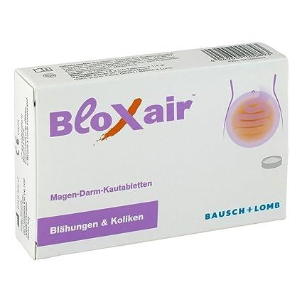 bloxair Bausch + Lomb estómago intestinales comprimidos masticables Gas y cólicos, (Pack de 10
