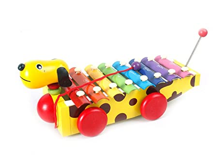 8 9 Toys For Birthdays : Amazon.com: mochiglory colorful dog hand knock wooden xylophone