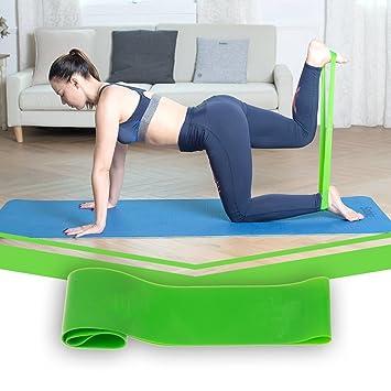 BDBQBL Bandas de resistencia para yoga, cinturón elástico ...