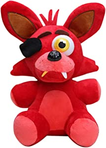 Five Nights at Freddy'S Foxy The Pirate Plush, FNAF Foxy The Pirate Plush Doll Toy Stuffed Body Throw Pillows Figura Juguetes Kawaii Plush Anime Soft Stuffed Plush Toy Dolls Regalo para niños Niños