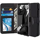 LG V30 Case, TAURI [Stand Feature] [PU Leather] Wallet Case with Card Pockets Protective Case Flip Cover For LG V30 / LG V30+ / LG V30 Plus - Black