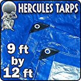 EasyGoProducts Protection Shelter Tarp Cover Waterproof Tarpaulin Plastic Tarp Drop Sheet for Contractors, Campers, Painters, Tents, Boats, Motorcycles, Hay Bales - Hercules Tarp (-9x12)