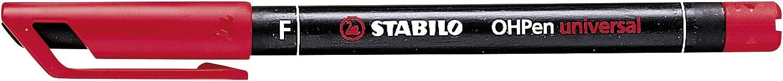 STABILO OHPen universal Fine permanente colore Rosso - Confezione da 10 842/40