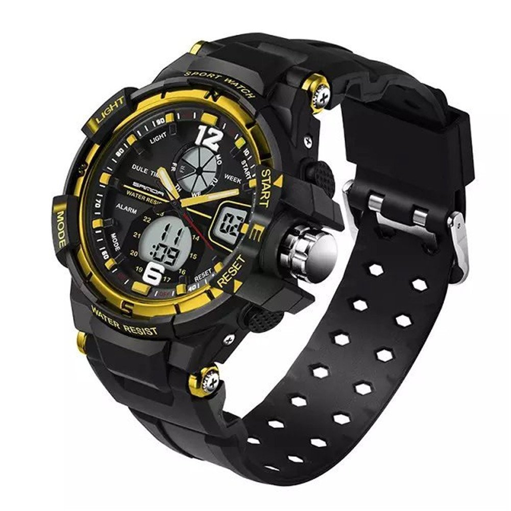 5ATM Junior's Sports Dual Time Waterproof Watches For Christmas Gift and New Year Ages 9-20