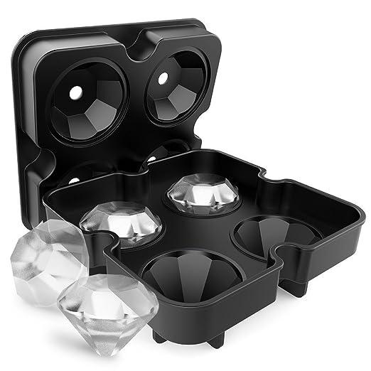 Bandejas de cubitos de hielo con tapa en forma de diamante ...