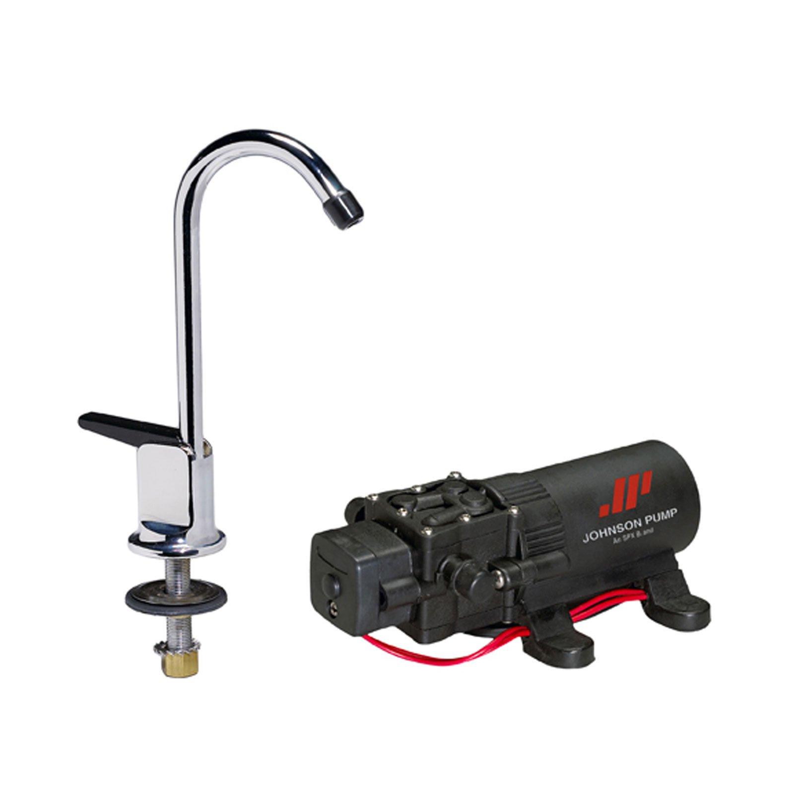 Johnson Pumps 61123 1.1 12V WPS/Faucet Combo, 15-Inch