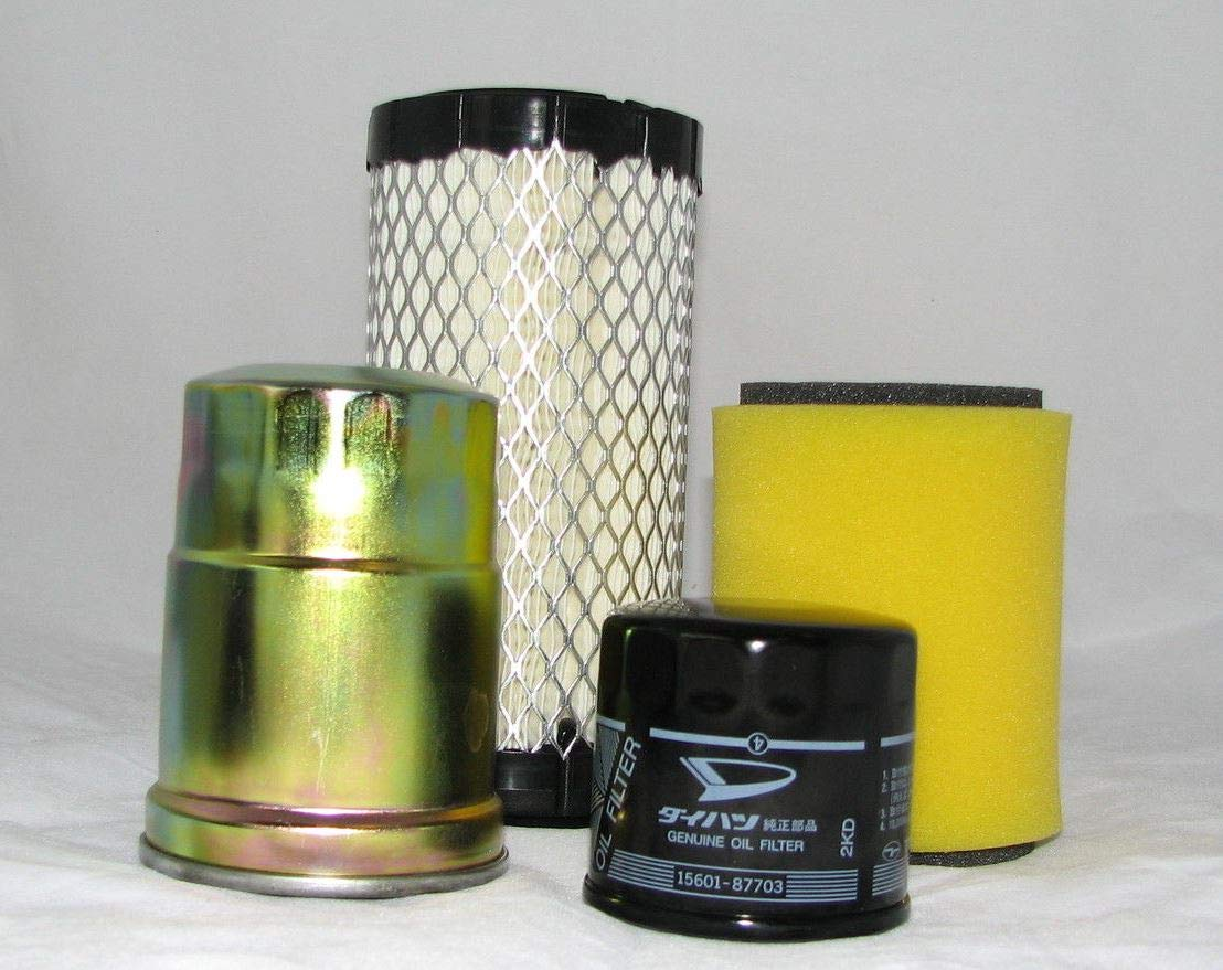 Kawasaki DIESEL 2510, 3010, 4000, 4010 Mule Complete Filter Kit (Oil, Air & Fuel) by ATVWorks