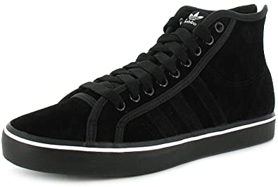 huge selection of 221e8 be00b Mens Adidas Original Nizza High Top Trainers, Heel Zip Fastening. -  Black Suede