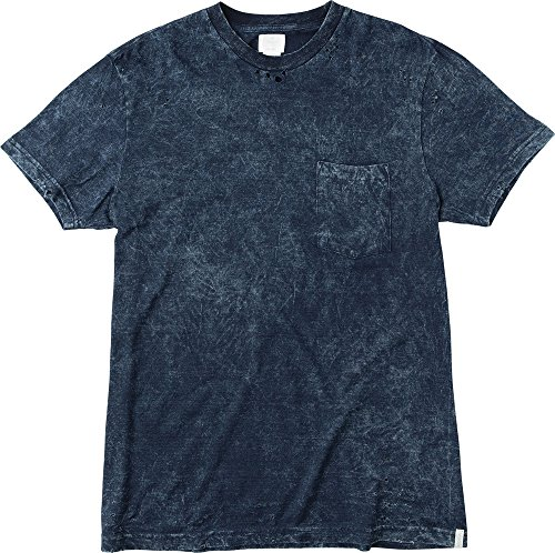 Rvca neutral acid wash soft tee shirt indigo blue size for Custom acid wash t shirts
