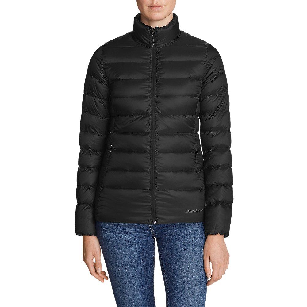 Eddie Bauer Women's CirrusLite Down Jacket, Black Petite XL