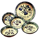 Certified International Garden of Olives 5-Piece Pasta Sets