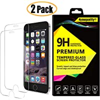 4youquality [2-Pack} iPhone 6 6S Screen Protector, Premium Tempered Glass Film [LifetimeWarranty][Scratch-Resistant][Anti-Shatter][3D Touch Compatible] Screen Protector for Apple iPhone 6 6S (4.7Inch)