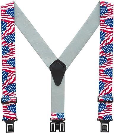 Stars Stripes USA American Flag Novelty Trouser Braces Mens Suspenders