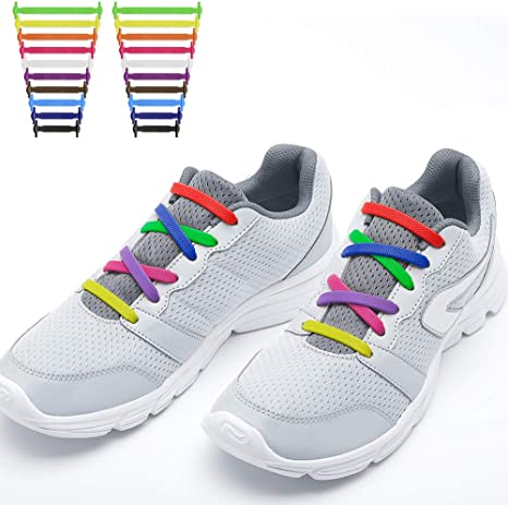 RJSport - Cordones elásticos para zapatillas de deporte para niños y adultos - SElastic-SL-US-MC, 20 pcs for both youth&adults, Multicolor: Amazon.es: Deportes y aire libre