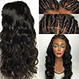 Eva Hair Full Lace Human Hair Wigs For Black Women Brazilian Virgin Hair Wig Body Wave Lace Front Human Hair Wigs Glueless Full Lace Wigs(Lace Front Wigs 8 inch)