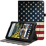 Fintie Verizon Ellipsis 10 HD Case 2017 Release - [Multi-Angle Viewing] Folio Stand Cover with Pocket Auto Wake/Sleep for 10' Verizon Ellipsis 10 HD (Model QTAXIA1) Tablet, US Flag