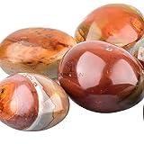 June&Ann Natural Ocean Jasper Palm Stones, Healing