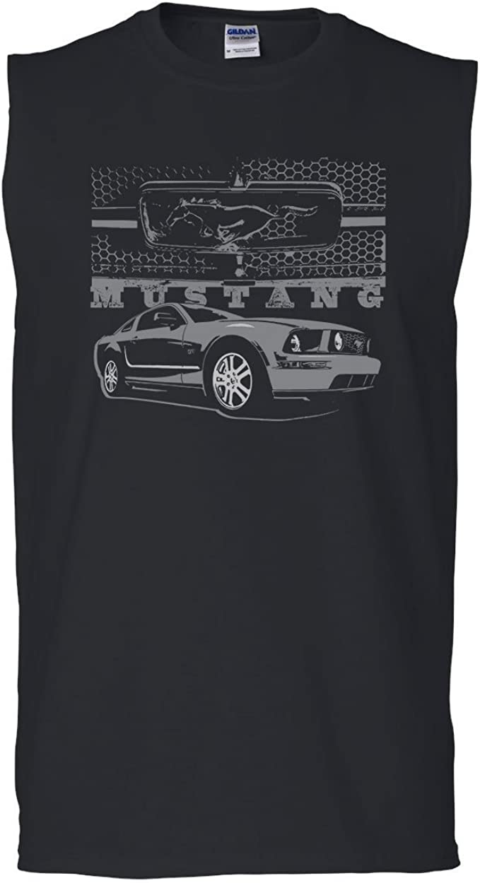 Ford Mustang Honeycomb Grille T-Shirt Legendary American Muscle Mens Tee Shirt