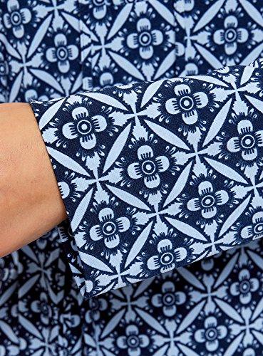 Bleu Collection oodji avec Robe Maille Femme Ceinture 7970o gY1wqv1