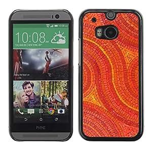 Be Good Phone Accessory // Dura Cáscara cubierta Protectora Caso Carcasa Funda de Protección para HTC One M8 // Mosaic Pattern Art Floor Design Stones