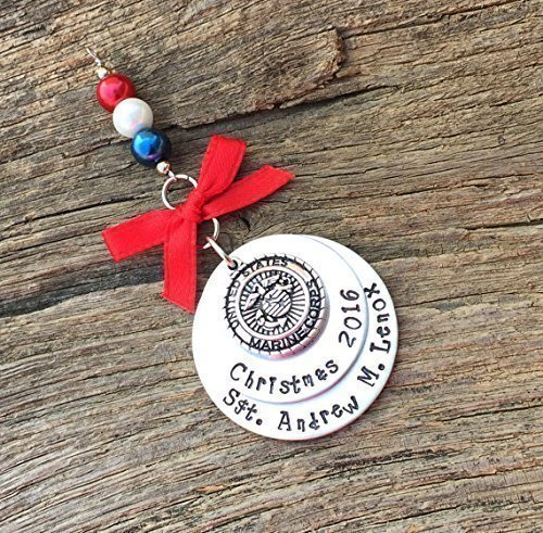 Image Unavailable. Image not available for. Color: Marine Corps Christmas Ornament | Military Christmas Ornament | Boot Camp Graduation Gift ...