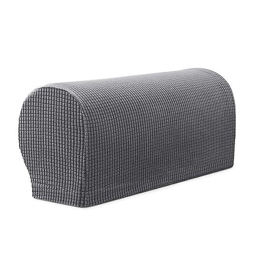 Demiawaking - 2 Fundas elásticas para reposabrazos de sofá y ...