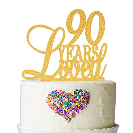 Amazon 90 Years Loved Cake Topper