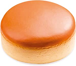 iBloom Cheesecake Realistic Food Slow Rising Squishy Toy [Cheesecake Series] (Brown, Bread Scented, 7 Inch) [Easter Basket Stuffers, Party Favors, Stress Relief Toys for Kids]