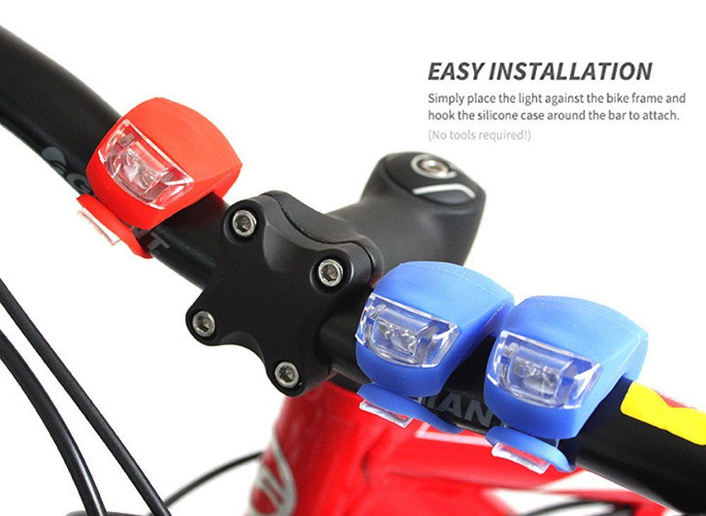 Bicycle Front/&Rear Light Waterproof Battery Pack Road//Mountain Bike Headlamp Set