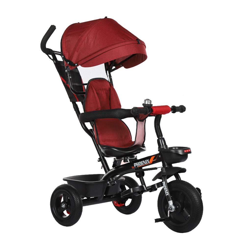 1-3 - - 6歳の男の子と女の子の多機能子供の三輪車回転シートオーニングのための4-1 - 赤ん坊のバイク3の車輪の自転車のゴム車輪 - 安い 1-3、ディスカウント価格赤 - B07MGR8RRL, ワダマチ:6775be87 --- cgt-tbc.fr