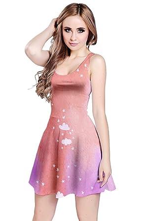 CowCow Damen Kleid rosa magenta Gr. 50, violett