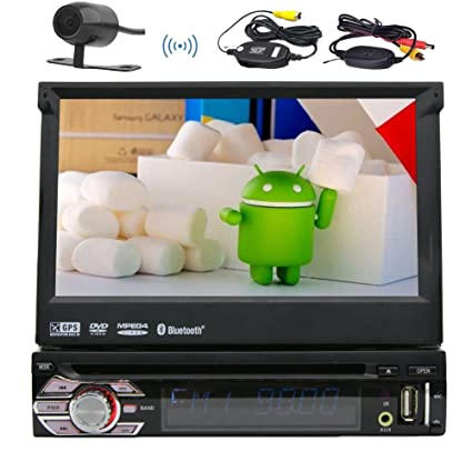 "7"" Inch Android 1Din Auto Radio Quad-core 6.0 Marshmallow Stereo System Multi Screen"