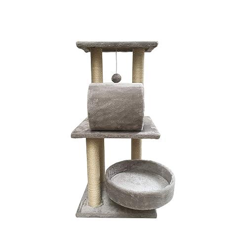 YUHAO Torres y Condos para Gatos, árbol para Gatos con raspador, Torre de Escalada