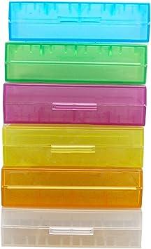 Schachtel Aufbewahrung für 2 Accu 18650//4 Knopfzelle CR123a Batterie Box
