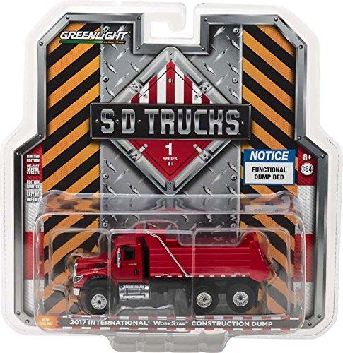 Greenlight 45010-A S.D. Trucks Series 1-2017 RED International WorkStar Construction Dump Truck 1:64 Scale