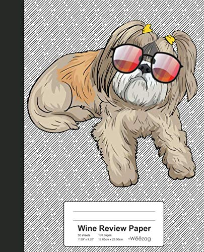 Wine Review Paper: Book Shih Tzu Dog (Weezag Wine Review Paper Notebook) by Weezag