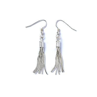 7fa84cb86882bf Sterling Silver Tassel Earrings: Amazon.co.uk: Jewellery