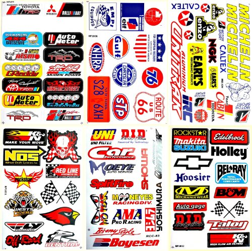 (Motorsport Cars Hot Rod Nhra Drag Racing Lot 6 Vinyl Decals Stickers D6053)