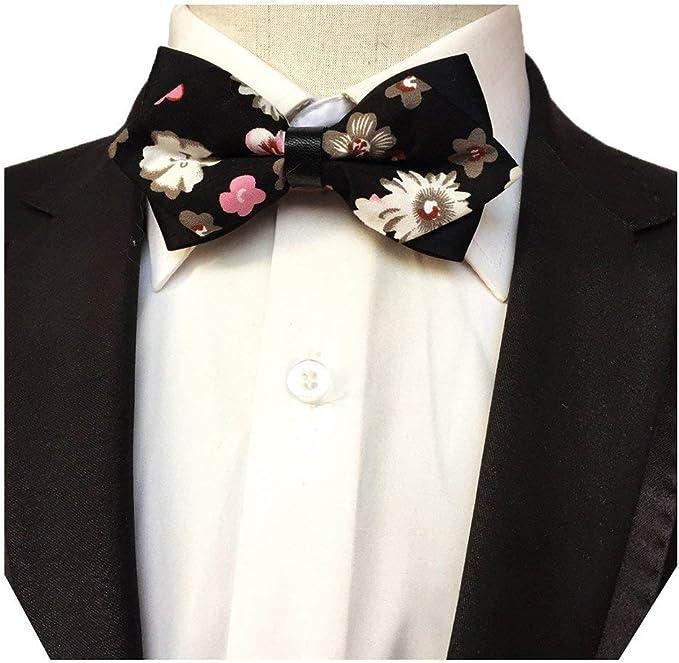 MENDENG Gift Set for Men Paisley Woven Necktie Pocket Square Bowtie Cufflinks